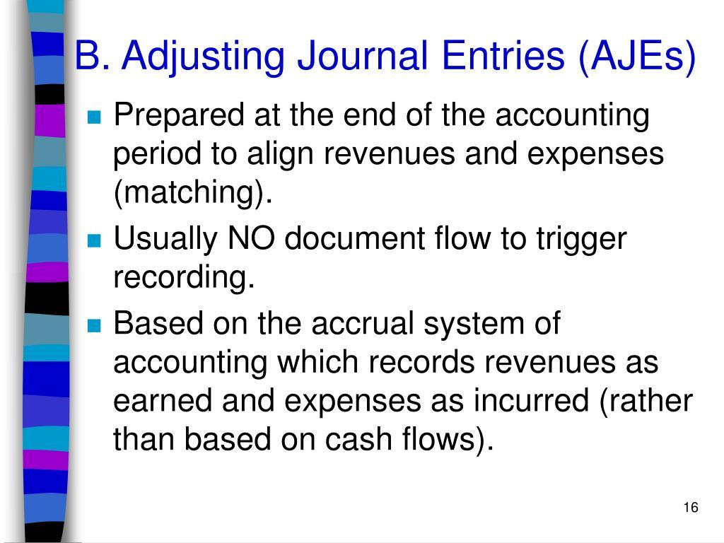 B. Adjusting Journal Entries (AJEs)