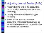 b adjusting journal entries ajes
