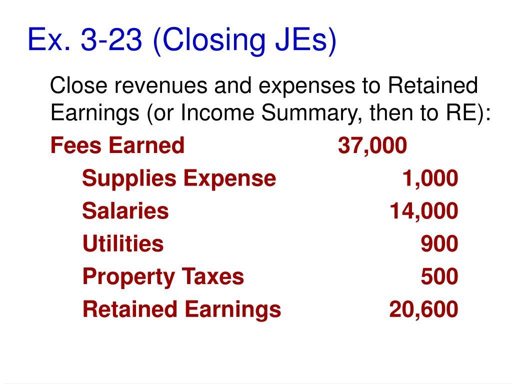 Ex. 3-23 (Closing JEs)
