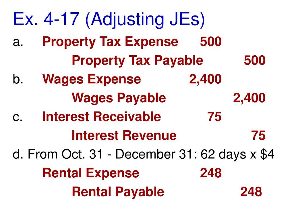 Ex. 4-17 (Adjusting JEs)