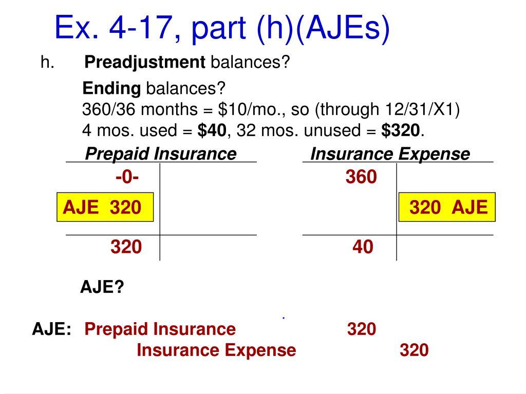 Ex. 4-17, part (h)(AJEs)