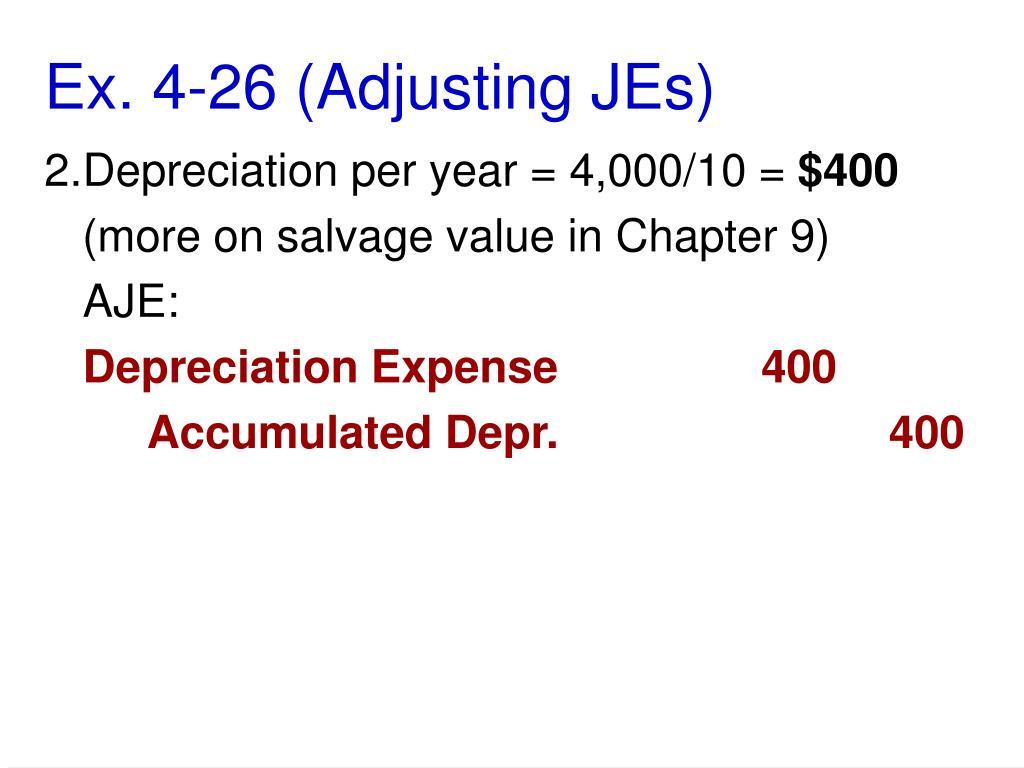 Ex. 4-26 (Adjusting JEs)