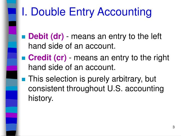 I double entry accounting