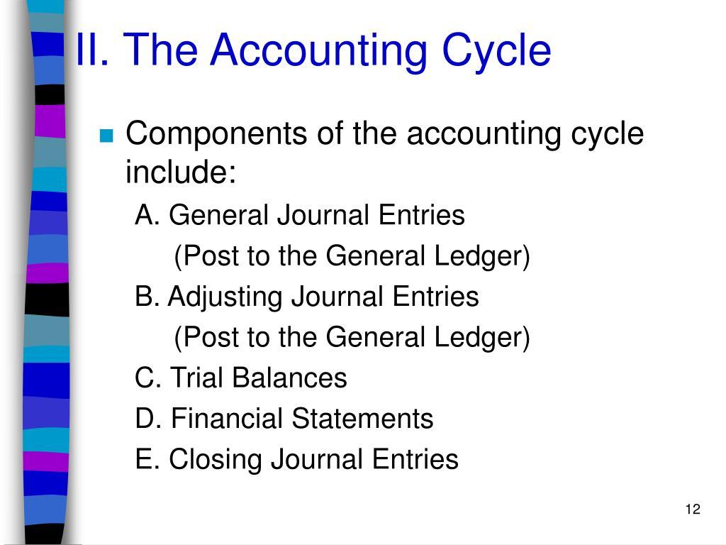 II. The Accounting Cycle