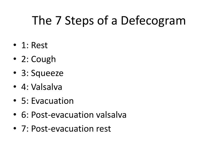 The 7 Steps of a Defecogram