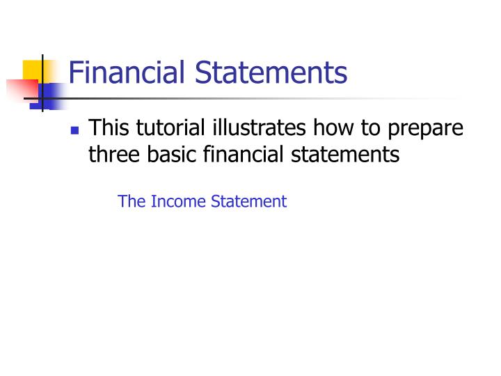 Financial statements3