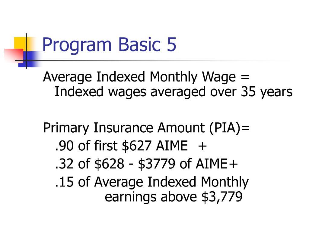 Program Basic 5