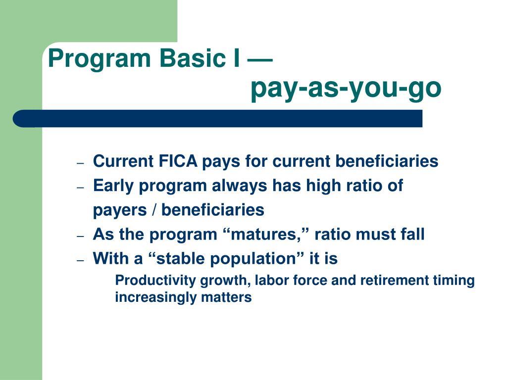 Program Basic I —