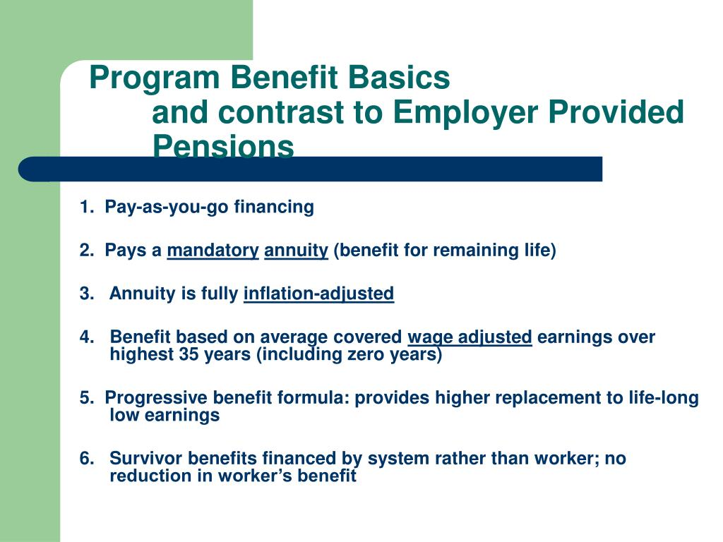 Program Benefit Basics