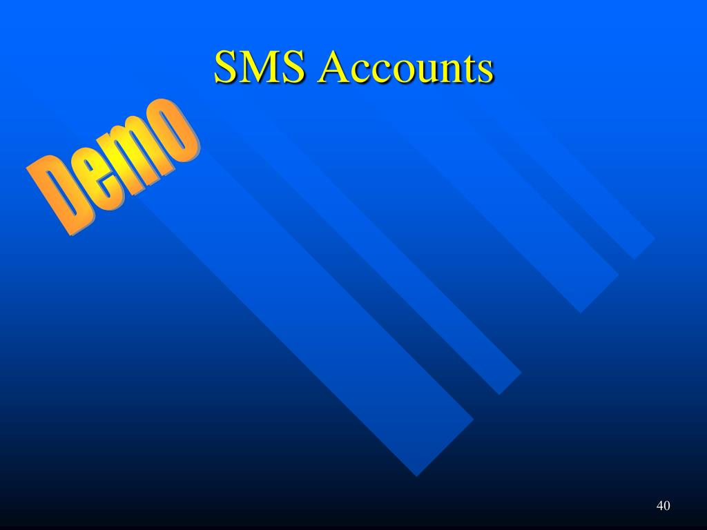 SMS Accounts