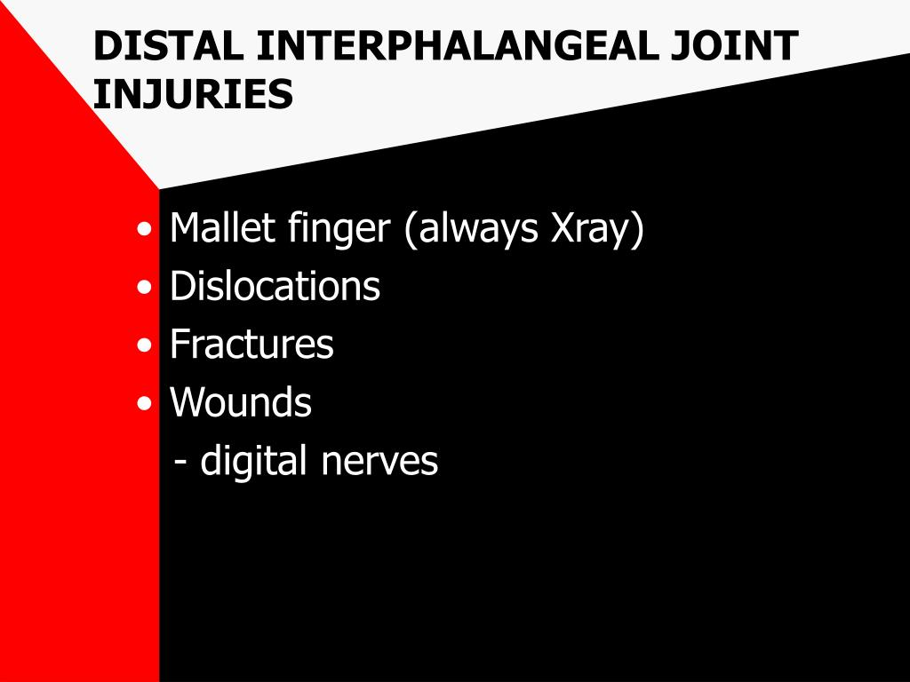 DISTAL INTERPHALANGEAL JOINT INJURIES