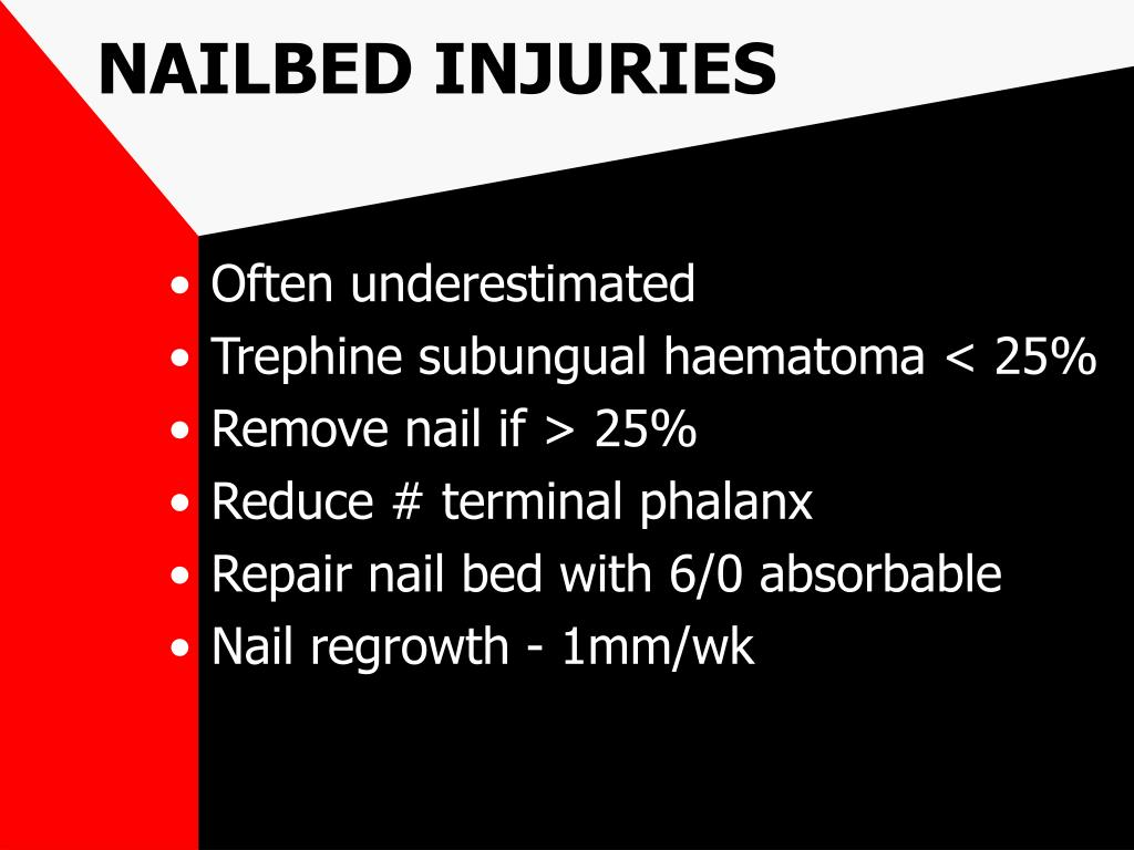 NAILBED INJURIES