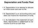 depreciation and funds flow