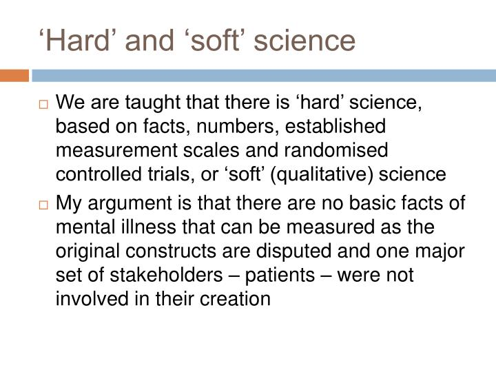'Hard' and 'soft' science
