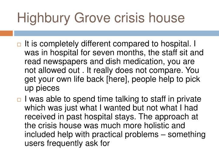 Highbury Grove crisis house