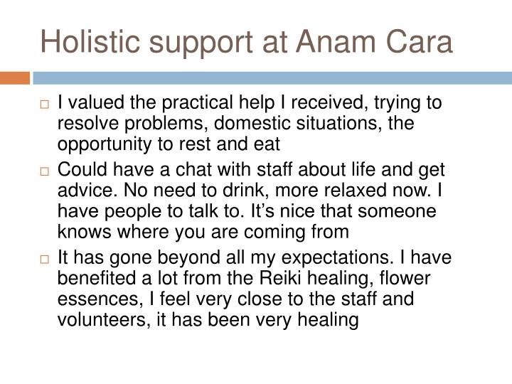 Holistic support at Anam Cara