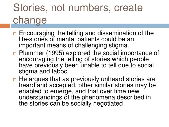 Stories, not numbers, create change