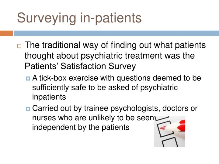 Surveying in-patients