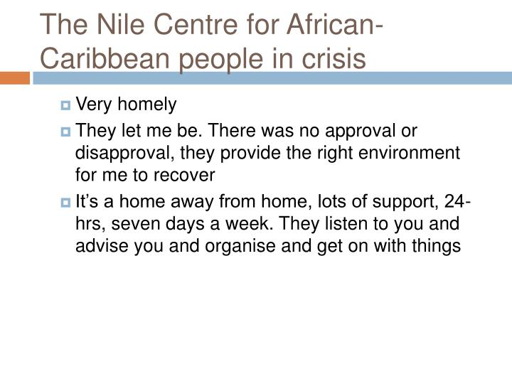 The Nile Centre for African-Caribbean people in crisis