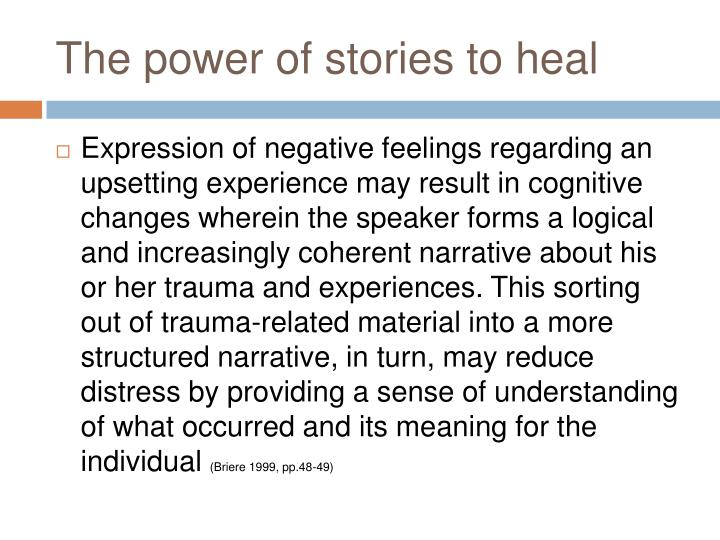 The power of stories to heal