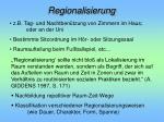 regionalisierung