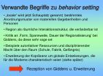 verwandte begriffe zu behavior setting31