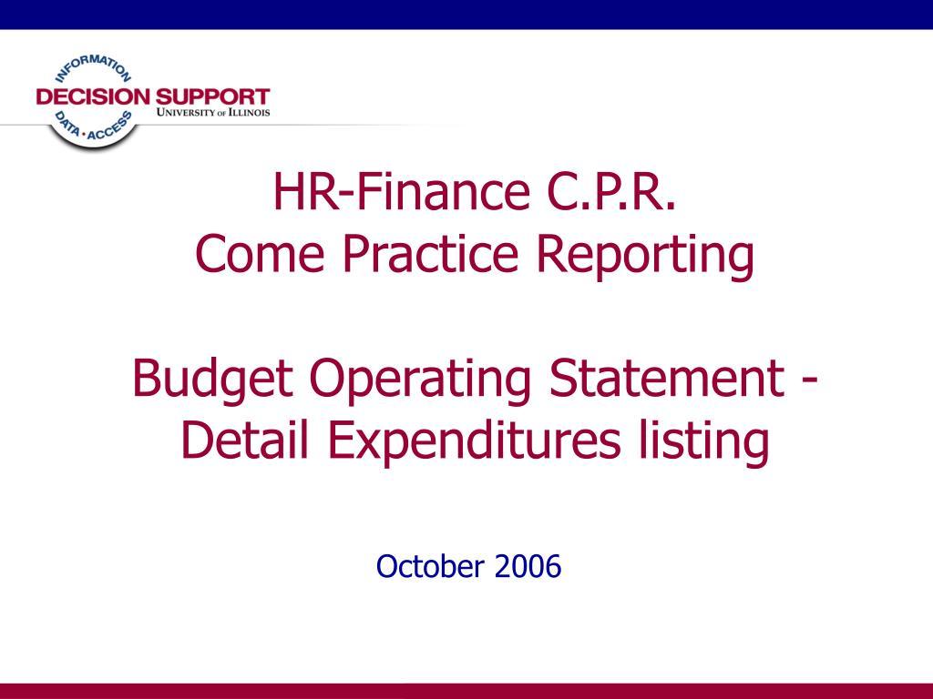 HR-Finance C.P.R.