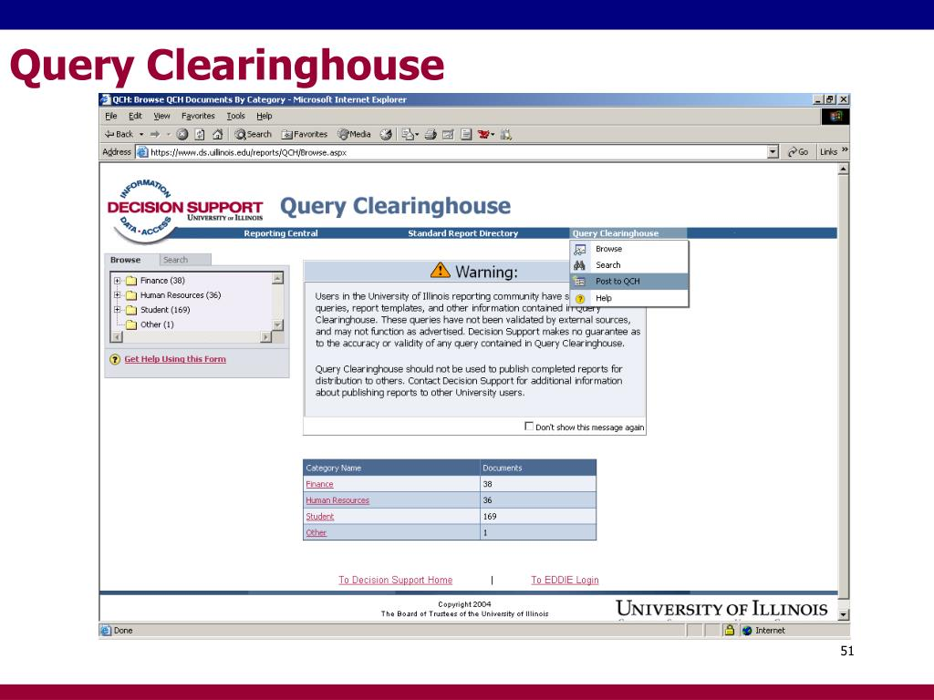 Query Clearinghouse