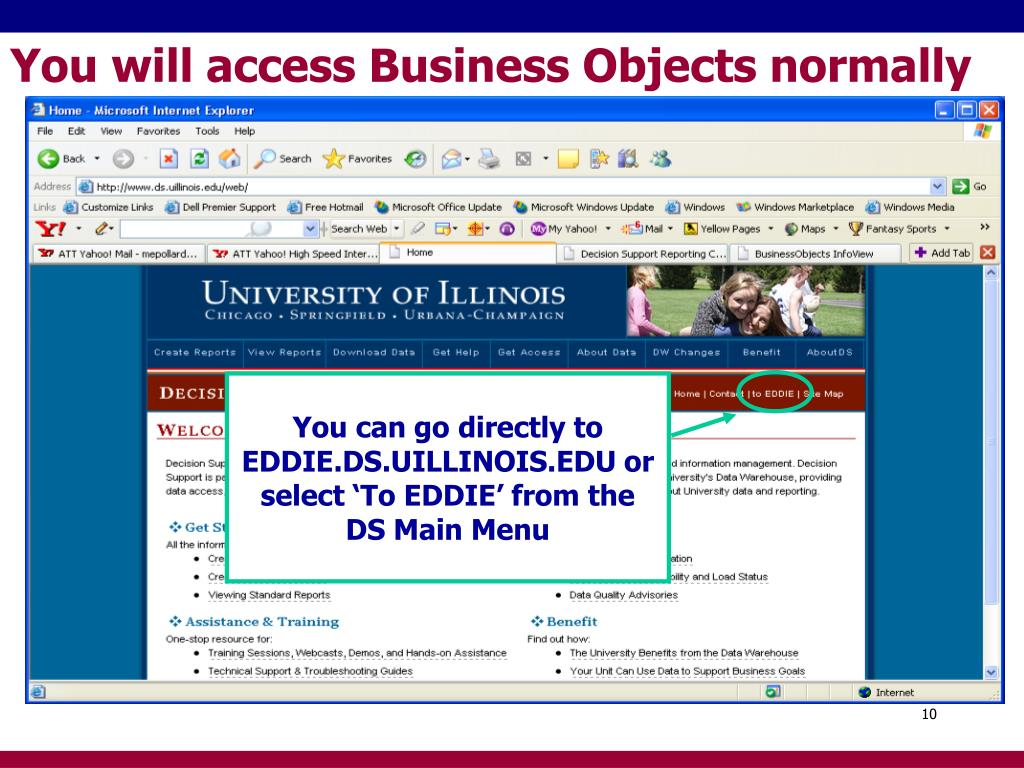 You will access Business Objects normally