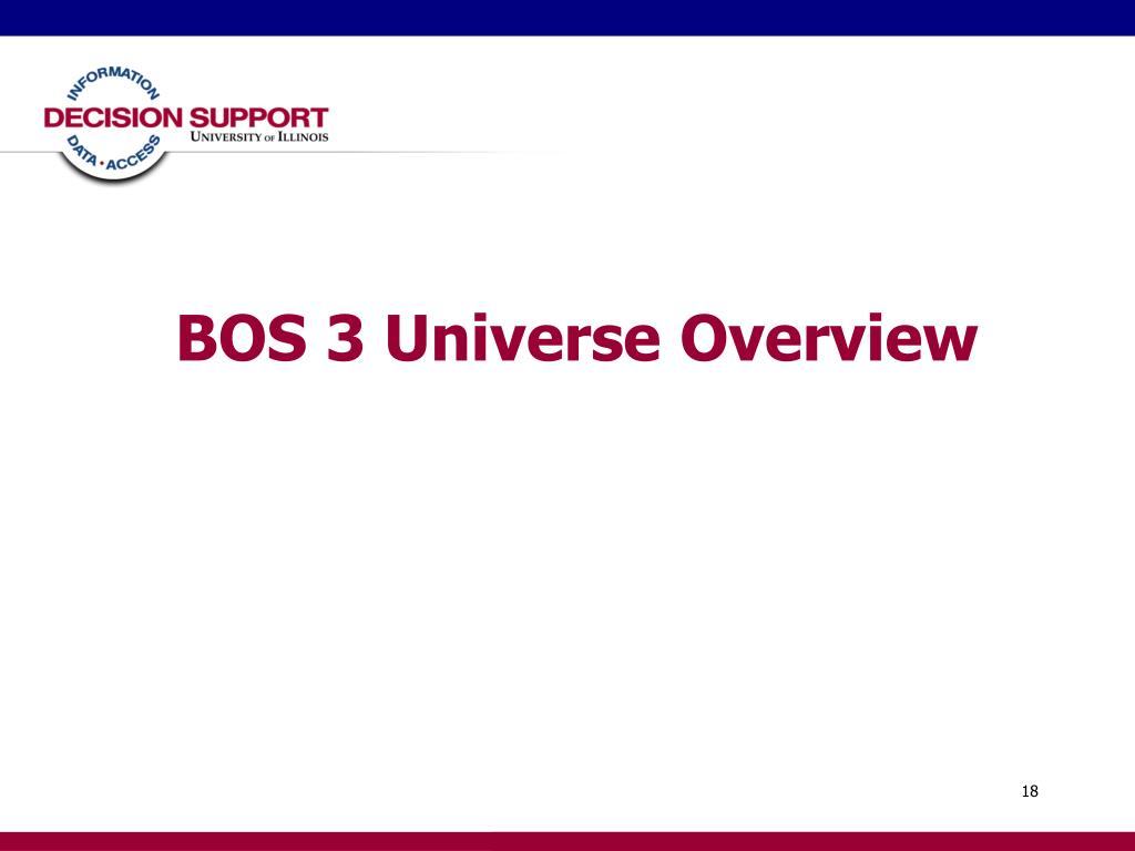 BOS 3 Universe Overview