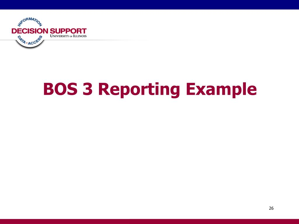 BOS 3 Reporting Example