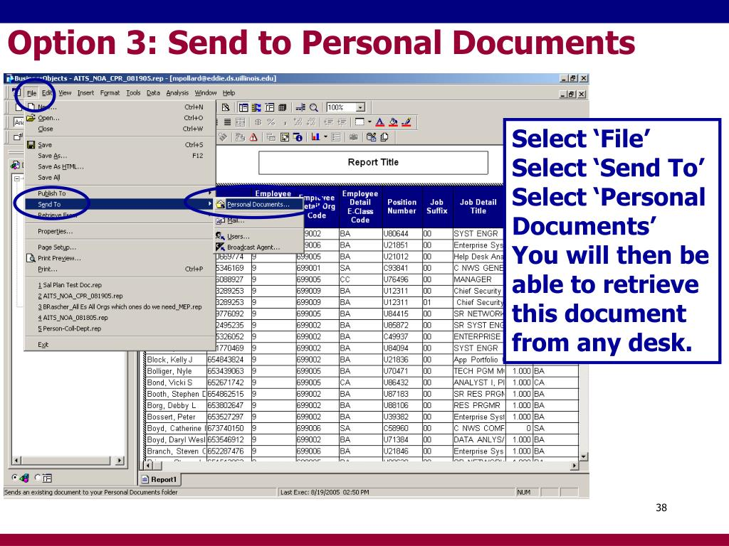 Option 3: Send to Personal Documents