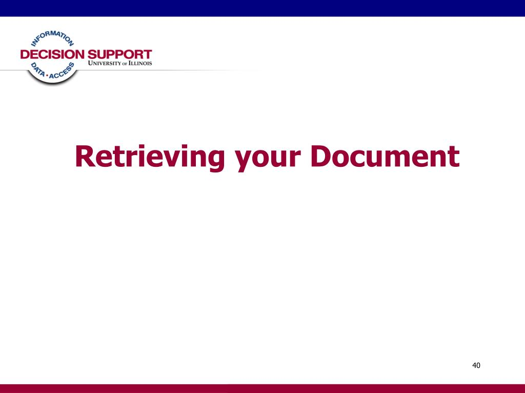 Retrieving your Document
