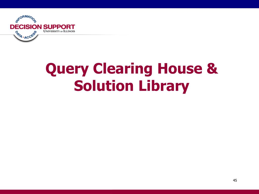 Query Clearing House & Solution Library