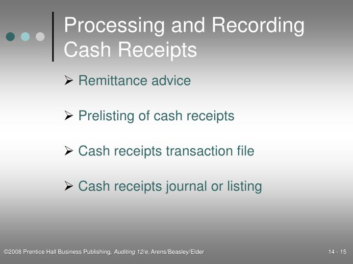 Processing and Recording Cash Receipts