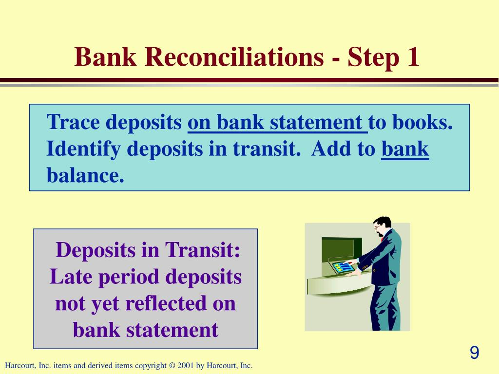 Bank Reconciliations - Step 1