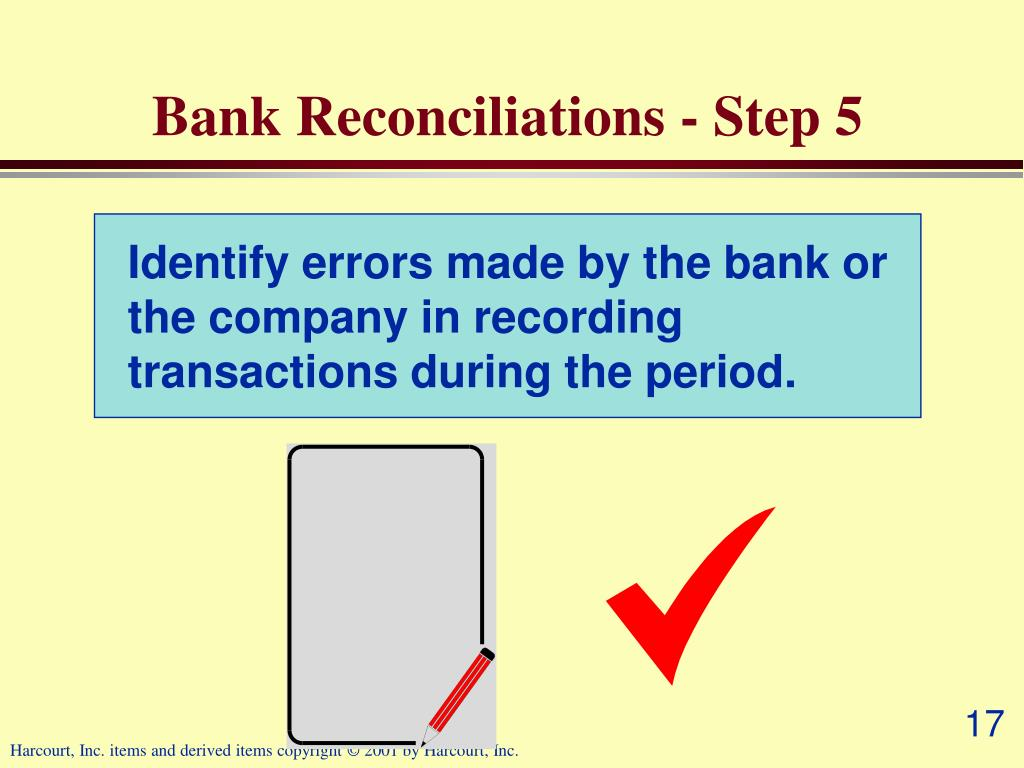 Bank Reconciliations - Step 5