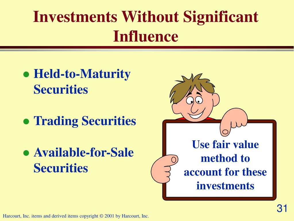 Use fair value method to account for these investments