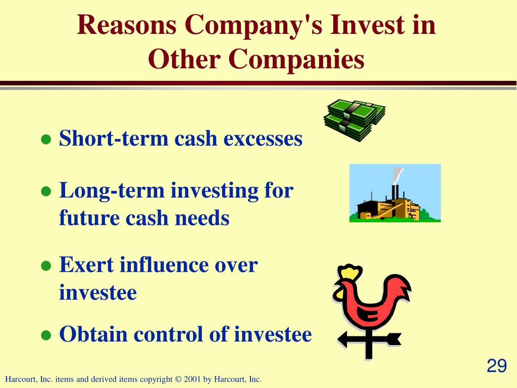 Reasons Company's Invest in Other Companies