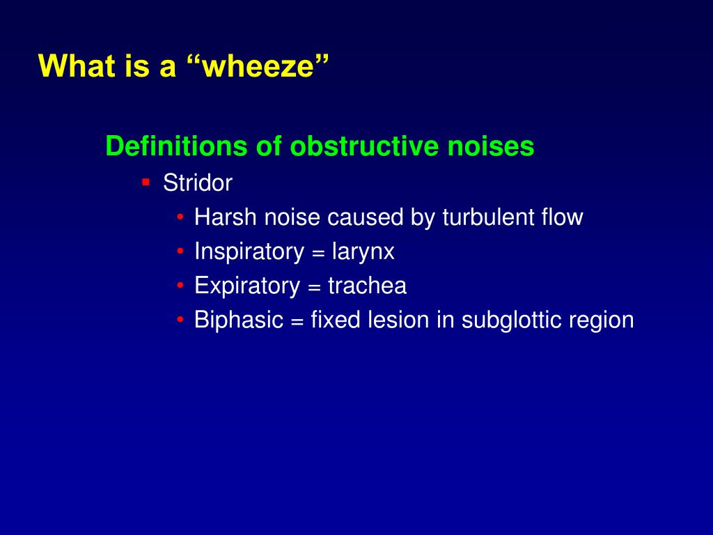 "What is a ""wheeze"""