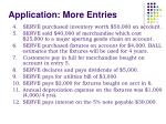 application more entries