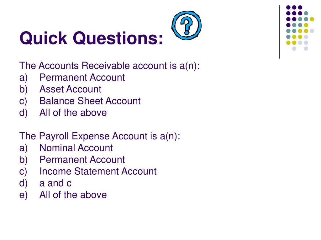 Quick Questions: