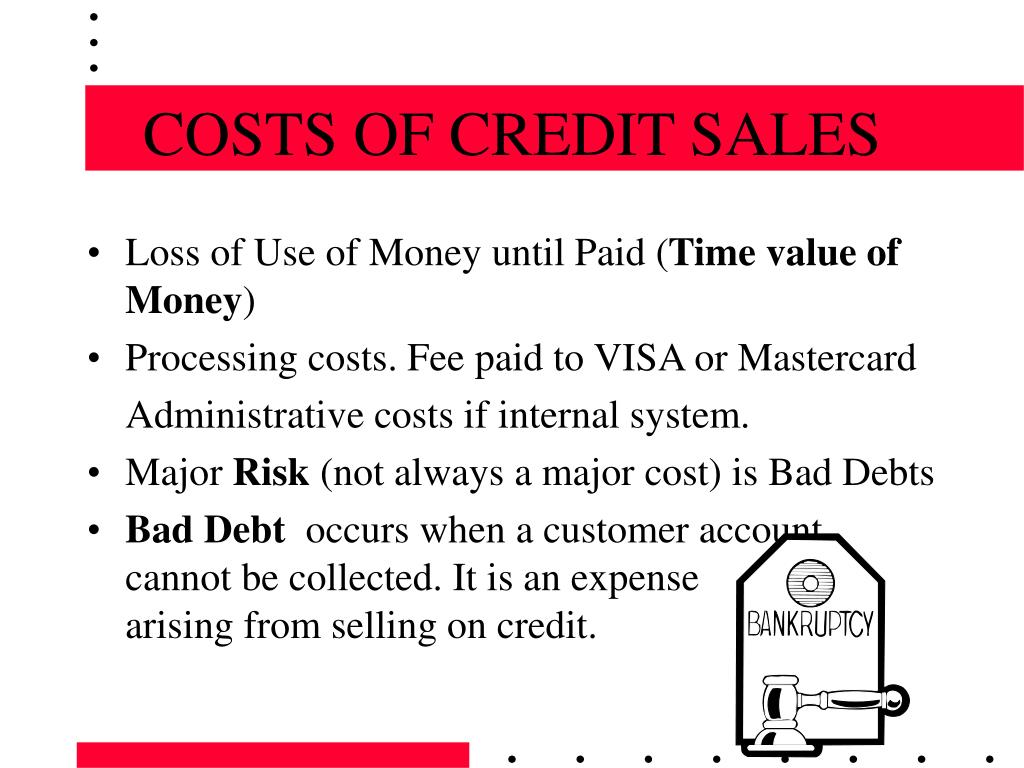 COSTS OF CREDIT SALES
