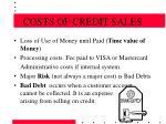 costs of credit sales14