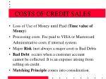 costs of credit sales15