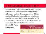 estimating bad debts19