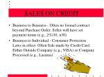 sales on credit8