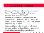 sales on credit9