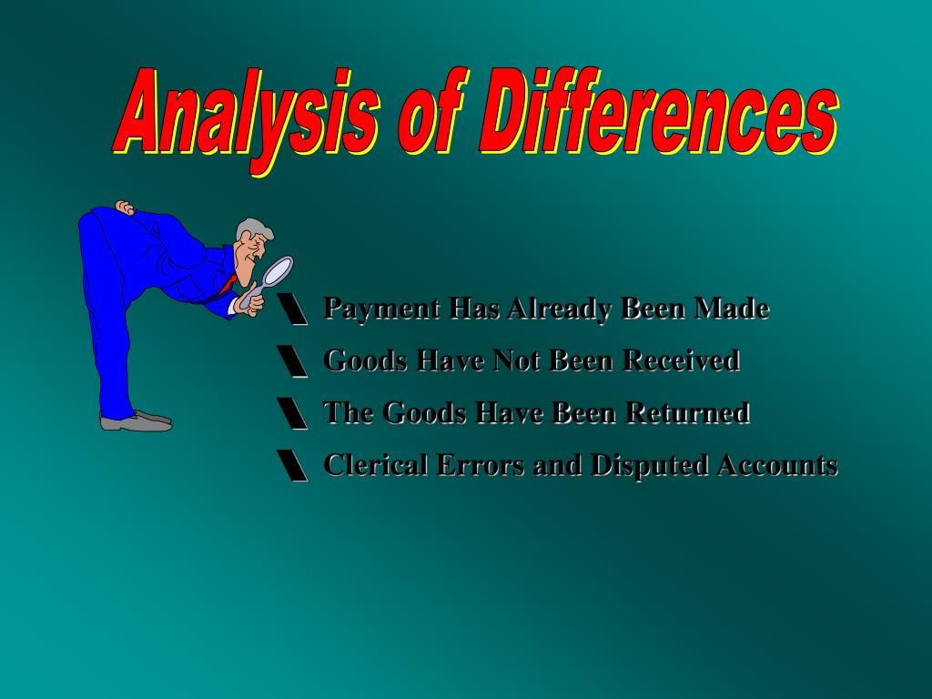 Analysis of Differences