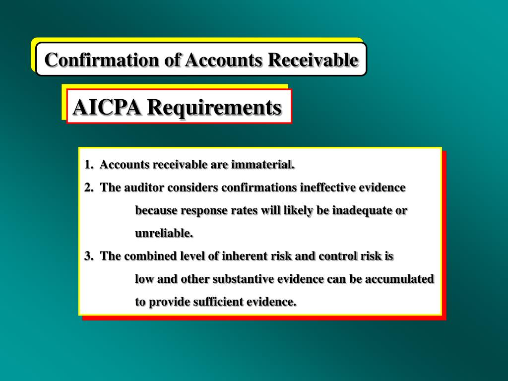 Confirmation of Accounts Receivable